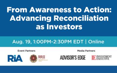 Advancing Reconciliation as Investors